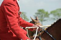 Huntsman wearing hunting pink.