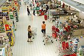 Hyper-U supermarket in northern France