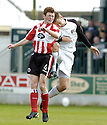 21/04/2007       Copyright Pic: James Stewart.File Name : sct_jspa01_gretna_v_clyde.RUARI MACLENNAN GETS A KNOCK ON THE BACK THE HEAD AND A KNEE IN THE BACK FROM DANNY GRAINGER.James Stewart Photo Agency 19 Carronlea Drive, Falkirk. FK2 8DN      Vat Reg No. 607 6932 25.Office     : +44 (0)1324 570906     .Mobile   : +44 (0)7721 416997.Fax         : +44 (0)1324 570906.E-mail  :  jim@jspa.co.uk.If you require further information then contact Jim Stewart on any of the numbers above.........