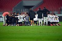 10th June 2021; Beira-Rio Stadium, Porto Alegre, Brazil; Copa do Brazil, Internacional versus Vitoria; Players of Vitória celebrate their win after full time