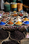 Herbs and Spices for sale in the Sharia Souk in Luxor.The town of Luxor occupies the eastern part of a great city of antiquity which the ancient Egytians called Waset and the Greeks named Thebes.