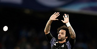Football Soccer: UEFA Champions League Round of 16 second leg, Napoli-Real Madrid, San Paolo stadium, Naples, Italy, March 7, 2017. <br /> Real Madrid's Marcelo celebrates after winning the Champions League football soccer match between Napoli and Real Madrid at the San Paolo stadium, 7 March 2017. <br /> Real Madrid won 3-1 to reach the quarter-finals.<br /> UPDATE IMAGES PRESS/Isabella Bonotto