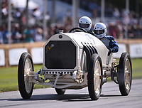 9th July 2021;  Goodwood  House, Chichester, England; Goodwood Festival of Speed; Day Two; Hermann Layher drives a 1909 Benz 200HP 'Blitzen Benz' in the Goodwood Hill Climb