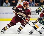 9 January 2009: Boston College Eagles' forward Matt Price, a Junior from Milton, Ontario, in action during the first game of a weekend series against the University of Vermont Catamounts at Gutterson Fieldhouse in Burlington, Vermont. The Catamounts scored with one second remaining in regulation time to earn a 3-3 tie with the visiting Eagles. Mandatory Photo Credit: Ed Wolfstein Photo