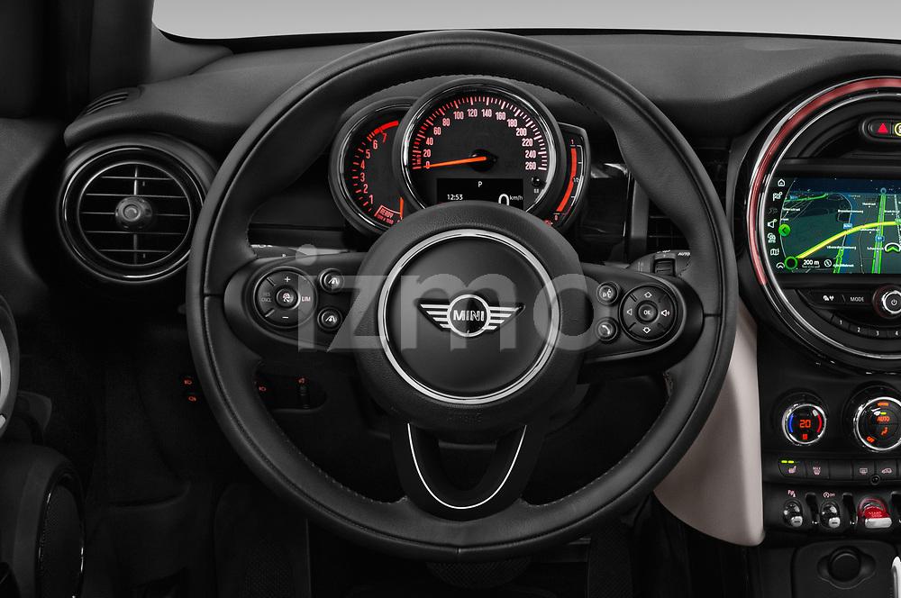 Car pictures of steering wheel view of a 2018 Mini MINI Cooper S Chilli 5 Door Hatchback