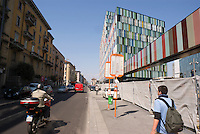 "milano, periferia nord. nuovi edifici sull'ex area carlo erba di piazzale maciachini - via imbonati nell'ambito del progetto di riqualificazione del quartiere --- milan, north periphery. new buildings on the former ""carlo erba"" area in maciachini square -  imbonati street within the requalification project of the district."