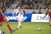 CARSON, CA - March 10,2012: LA Galaxy forward Robbie Keane (7) during the LA Galaxy vs Real Salt Lake match at the Home Depot Center in Carson, California. Final score LA Galaxy 1, Real Salt Lake 3.