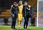 St Johnstone v Ross County…24.10.17…  McDiarmid Park…  SPFL<br />County keeper Scott Fox is helped off the pitch after injury<br />Picture by Graeme Hart. <br />Copyright Perthshire Picture Agency<br />Tel: 01738 623350  Mobile: 07990 594431