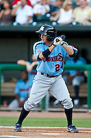 Tony Campana of the  Tennessee Smokies during a game vs. the Jacksonville Suns July 10 2010 at Baseball Grounds of Jacksonville in Jacksonville, Florida. Photo By Scott Jontes/Four Seam Images