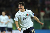 Italy's Riccardo Orsolini celebrates after scoring the 8-1 goal <br /> Palermo 18-11-2019 Stadio Renzo Barbera <br /> UEFA European Championship 2020 qualifier group J <br /> Italy - Armenia <br /> Photo Carmelo Imbesi / Insidefoto
