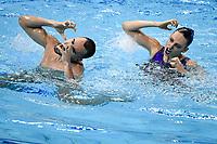 ESP GARCIA GARCIA Emma / RIBES CULLA Pau Silver Medal <br /> Mixed Duet Technical - Final <br /> Artistic Swimming<br /> Budapest  - Hungary  10/5/2021<br /> Duna Arena<br /> XXXV LEN European Aquatic Championships<br /> Photo Andrea Staccioli / Deepbluemedia / Insidefoto