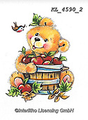 CUTE ANIMALS, LUSTIGE TIERE, ANIMALITOS DIVERTIDOS, paintings+++++,KL4590/2,#ac#, EVERYDAY ,sticker,stickers ,bear,bears ,autumn