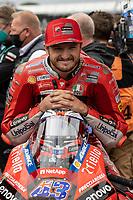 29th August 2021; Silverstone Circuit, Silverstone, Northamptonshire, England; MotoGP British Grand Prix, Race Day; Ducati Lenovo Team rider Jack Miller on his Ducati Desmosedici GP21 on the grid