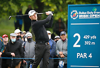 3rd July 2021; Mount Juliet Golf Club, Kilkenny, Ireland; Dubai Duty Free Irish Open Golf, Day Three; Justin Harding of South Africa tees off on the 2nd hole