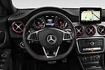 Car pictures of steering wheel view of a 2018 Mercedes Benz CLA Shooting Brake Sport 5 Door Wagon