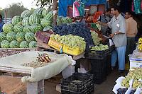 Tripoli, Libya - Fruit Stand, Grapes, Watermelons