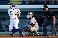 Ryan Stovall #9 of the Burlington Royals follows through on his swing against the Greeneville Astros at Burlington Athletic Stadium June22, 2010, in Burlington, North Carolina.  Photo by Brian Westerholt / Four Seam Images