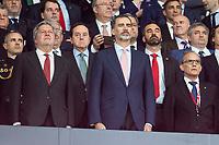 King Felipe VI os Spain during King's Cup Finals match between Sevilla FC and FC Barcelona at Wanda Metropolitano in Madrid, Spain. April 21, 2018. (ALTERPHOTOS/Borja B.Hojas)