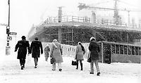 FILE PHOTO -  Construction of Complexe Desjardins,1974.<br /> <br /> Photo : Alain Renaud<br />  - Agence Quebec Presse