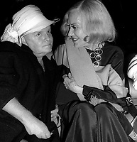 Truman Capote and Gloria Swanson 1978<br />