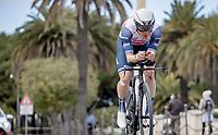 Toms Skujiņš (LVA/Trek - Segafredo)<br /> <br /> Final stage 7 (ITT) from San Benedetto del Tronto to San Benedetto del Tronto (10.1km)<br /> <br /> 56th Tirreno-Adriatico 2021 (2.UWT) <br /> <br /> ©kramon