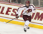 Patrick Brown (BC - 23) - The Boston College Eagles defeated the visiting University of Wisconsin Badgers 9-2 on Friday, October 18, 2013, at Kelley Rink in Conte Forum in Chestnut Hill, Massachusetts.