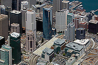 aerial photograph, Millenium tower, Spear Street Towers, Foundry Square, skyscrapers San Francisco California