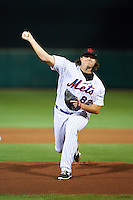 Scottsdale Scorpions pitcher Corey Oswalt (82), of the New York Mets organization, during a game against the Mesa Solar Sox on October 17, 2016 at Scottsdale Stadium in Scottsdale, Arizona.  Mesa defeated Scottsdale 12-2.  (Mike Janes/Four Seam Images)