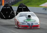 Jun. 19, 2011; Bristol, TN, USA: NHRA pro stock driver Mike Edwards during eliminations at the Thunder Valley Nationals at Bristol Dragway. Mandatory Credit: Mark J. Rebilas-