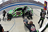 2017 Monster Energy NASCAR Cup Series<br /> Auto Club 400<br /> Auto Club Speedway, Fontana, CA USA<br /> Sunday 26 March 2017<br /> Kyle Busch, Interstate Batteries Toyota Camry pit stop<br /> World Copyright: Nigel Kinrade/LAT Images<br /> ref: Digital Image 17FON1nk06081
