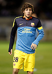 FC Barcelona's Sergi Roberto during Spanish King's Cup match.October 30,2012. (ALTERPHOTOS/Acero)
