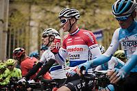 Mathieu Van Der Poel (NED/Correndon-Circus) at the race start in Leuven<br /> <br /> 59th De Brabantse Pijl - La Flèche Brabançonne 2019 (1.HC)<br /> One day race from Leuven to Overijse (BEL/196km)<br /> <br /> ©kramon