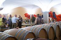 barrel aging cellar people tasting dom g robin crozes hermitage rhone france