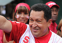 President of Venezuela Hugo Chavez during a rally through the poor slum of Petare, in Eastern Caracas, to rise support for his Constitution Reform that will allow him endless re elections. The reform is going to be voted in a referendum February 15th 2009.