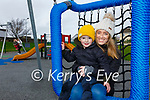 Enjoying some play time at the playground in Waterville on Friday were Adam & Danielle O'Shea.