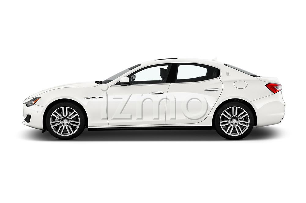 Car driver side profile view of a 2020 Maserati Ghibil Base 4 Door Sedan