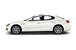 Car driver side profile view of a 2020 Maserati Ghibil Base 4 Door Sedan