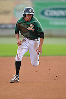 Jack Reinheimer #29 of the Clinton LumberKings runs to third base against the Kane County Cougars at Ashford University Field on July 6, 2014 in Clinton, Iowa. The LumberKings won 1-0.   (Dennis Hubbard/Four Seam Images)