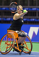 Rotterdam,Netherlands, December 17, 2015,  Topsport Centrum, Lotto NK Tennis, Wheelchair Tennis, Michaela Spaanstra (NED)<br /> Photo: Tennisimages/Henk Koster