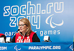 Sochi, RUSSIA - Mar 5 2014 -  Catherine Gosselin-Despres at Canada's flag bearer announcement prior to the Sochi 2014 Paralympic Winter Games in Sochi, Russia.  (Photo: Matthew Murnaghan/Canadian Paralympic Committee)
