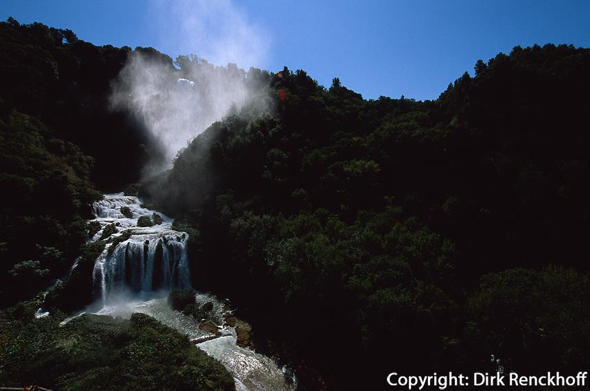 Italien, Umbrien, Wasserfall Cascata delle Marmore