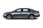 Car driver side profile view of a 2017 Volkswagen Passat R-Line 4 Door Sedan