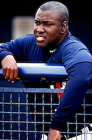 Tony Gwynn of the San Diego Padres participates in a Major League Baseball Spring Training game during the 1998 season in Phoenix, Arizona. (Larry Goren/Four Seam Images)