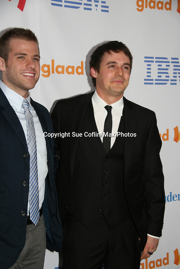 One Life To Live's Scott Evans and Brett Claywell win at the 21st Annual GLAAD Media Awards on March 13, 2010 at the New York Marriott Marquis, New York City, NY. (Photo by Sue Coflin/Max Photos)