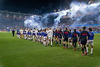 ORLANDO, FL - MARCH 05: The USWNT walk out during a game between England and USWNT at Exploria Stadium on March 05, 2020 in Orlando, Florida.