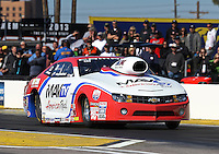 Feb. 22, 2013; Chandler, AZ, USA; NHRA pro stock driver Greg Stanfield during qualifying for the Arizona Nationals at Firebird International Raceway. Mandatory Credit: Mark J. Rebilas-