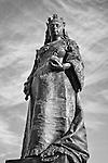 A Statue Of Queen Victoria Presides Over Victoria Square, Adelaide, Australia.