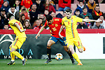 Romania's Ciobanu Andre, Romania's Florin Stefan and Spain's Pedro Porro    during the International Friendly match on 21th March, 2019 in Granada, Spain. (ALTERPHOTOS/Alconada)