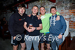 Enjoying the evening in Teach Beag on Thursday, l to r: Lee Levingstone, Mark Quinn, Noel Kershaw and James Creehan.