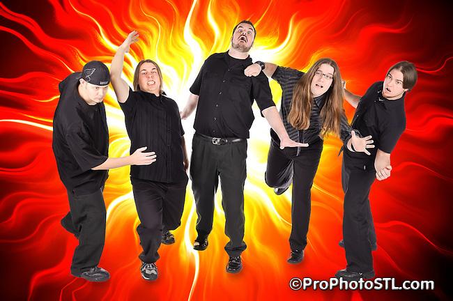 """I Have A Bomb"" band promo photos"